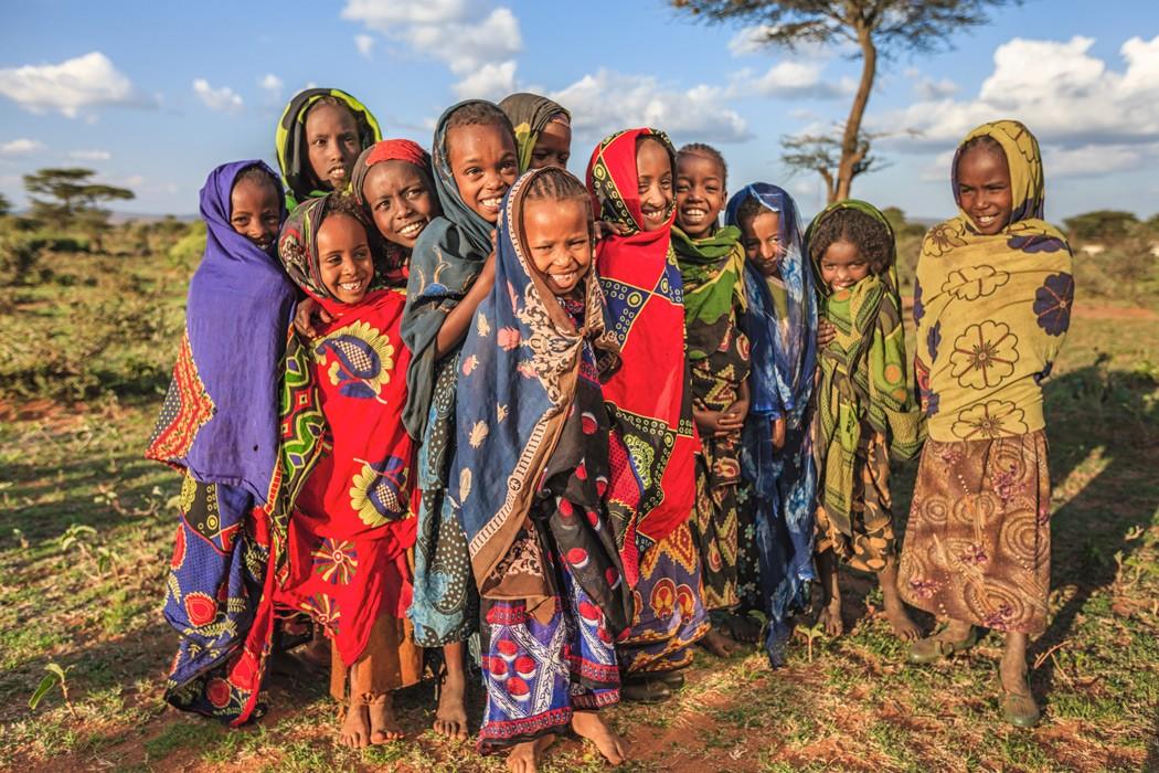 Niños africanos de Etiopía
